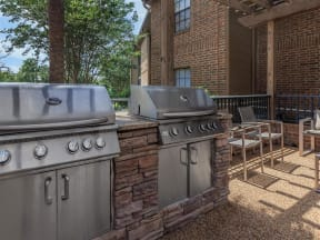 pool side outdoor grills