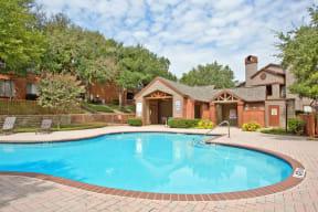 Resort style pools through community