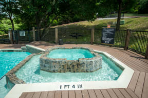 Poolside spa | Madison at the Arboretum
