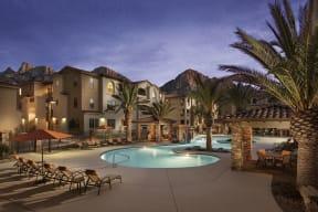 Lounge Swimming Pool With Cabana  Villas at San Dorado