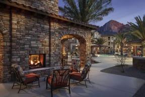 Enjoy poolside fireplaces and flat screen TVs  Villas at San Dorado