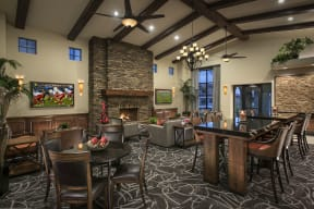 Social Lounge With Fireplace  Villas at San Dorado
