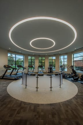 State of the art fitness center| The Merc at Moody and Main