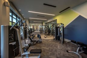 Fitness center | The Merc at Moody and Main