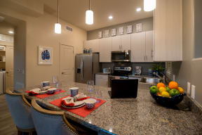 Kitchen with stainless steel appliances | Pima Canyon