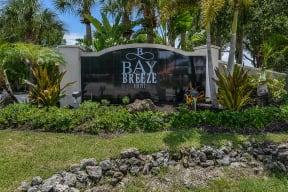 Welcoming community signage    Bay Breeze Villas