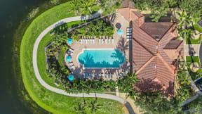Aerial Pool View   Bay Breeze Villas