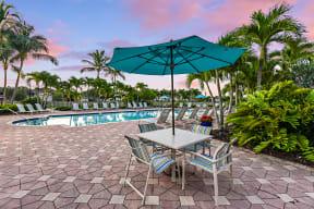 Poolside Patio   Bay Breeze Villas
