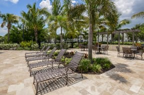 Pool deck with lounge chairs  | Bay Harbor