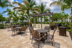 Poolside patio with grills  | Bay Harbor