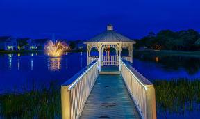 Lakeside gazebo and fountain  | Bay Harbor