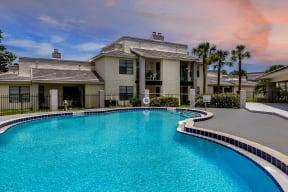 Enjoy an evening by the pool   Caribbean Villas