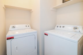 Washer and dryer in home | High Oaks
