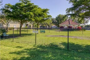 Apartment community with dog park  |Cypress Legends