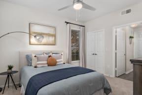 Bedroom With Expansive Windows| Lodges at Lakeline Village