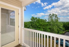 Homes feature private patios or balconies  | Highlands at Faxon Woods