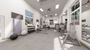 State of the art fitness center   Vizcaya