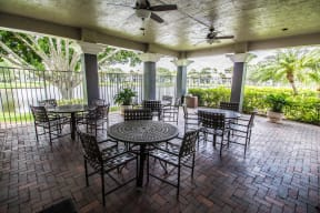 Covered patio area | Gateway Club