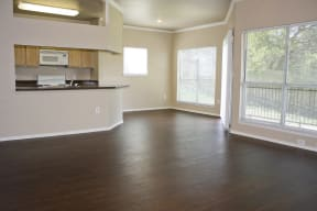 Select homes offer wood style flooring | Madison at the Arboretum