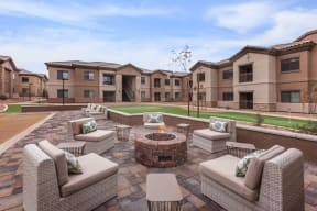 Fire pit & lounge area | Canyons at Linda Vista Trail