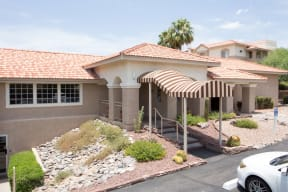 Entrance to clubhouse and leasing office  | Promontory