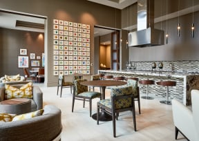 Clubhouse lounge and demonstration kitchen   Inspire Southpark
