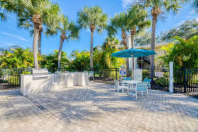 Patio with grills  | Lakes at Suntree