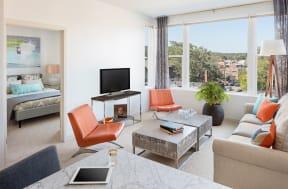 Living room | The Merc at Moody and Main