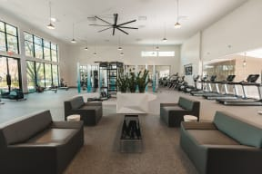 Fitness center lounge | Monterey Ranch