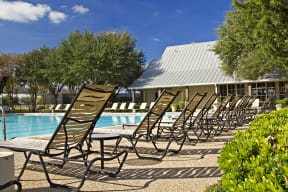 Pool with lounge chairs | Monterey Ranch