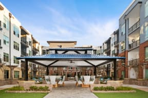 Outdoor patio with gazebo   Inspire Southpark