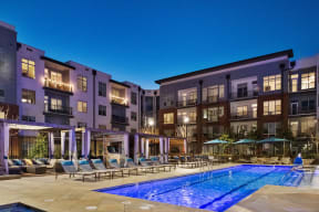 Resort style Pool with lounge chairs   Inspire Southpark