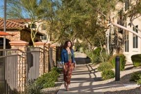 Outside Walking Path  Villas at San Dorado