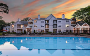 Enjoy a sunset by the pool | Pavilions