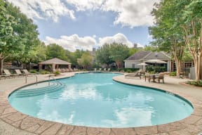 Relax by the resort-style swimming pool| Lodge at Lakeline Village
