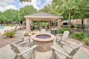 Outdoor Fire pit| Lodge at Lakeline Village