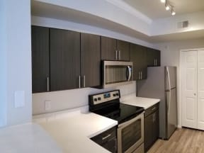 Renovated kitchen with stainless steel appliances  Walnut Creek