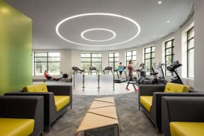 cardio machines at The Merc apartment gym