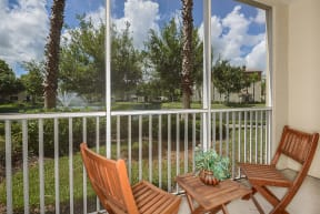 Private screened patio | Yacht Club