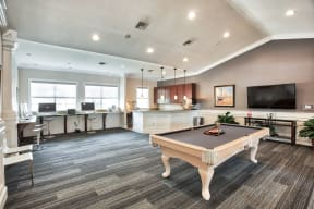 Clubhouse with pool table | Yacht Club