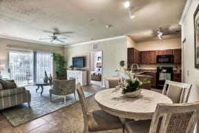 Open concept kitchen and living area | Yacht Club