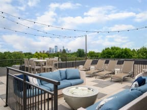 Firepit On Sundeck At Boutique 28 Apartments In Minneapolis, MN