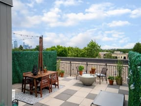 Seating On Sundeck At Boutique 28 Apartments In Minneapolis, MN