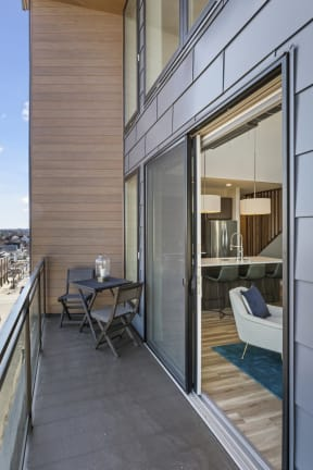 Spacious Penthouse Balcony At Revel Apartments In Minneapolis, MN
