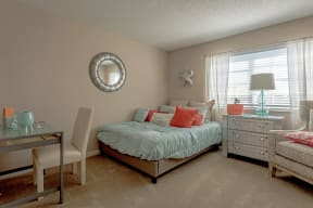 Polo Lakes Model Bedroom with Carpet