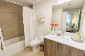 Bathroom   Twenty2 West   Luxurious Apartments in Miami, FL