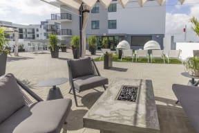 Outdoor Patio   Twenty2 West   Luxurious Apartments in Miami, FL