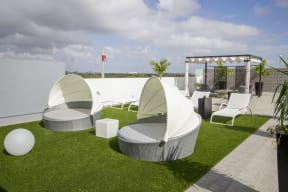 Outdoor Lounge Area   Twenty2 West   Luxurious Apartments in Miami, FL