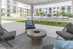 Pool Lounging   Twenty2 West   Luxurious Apartments in Miami, FL