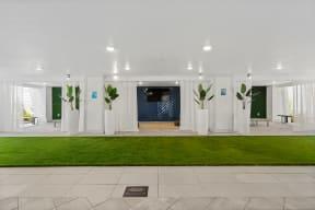 Stunning indoor green space as Coda Orlando community amenity for residents to enjoy in Orlando, FL